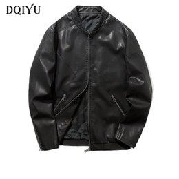 $enCountryForm.capitalKeyWord Australia - 2019 Bomber Leather Jacket Men Zippers Motorcycle Leather Jacket Slim Fit Male Outerwear Jaqueta De Couro Masculina 4XL