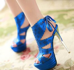 $enCountryForm.capitalKeyWord Australia - Plus size 32 33 34 to 40 41 42 43 Ultra high heels gold wedding shoes retro carving hollow out shoes blue red black
