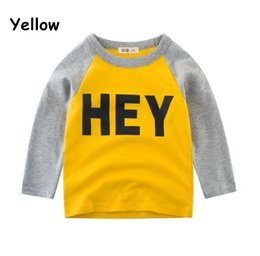 Wholesale new fashion shirts for boys for sale – custom New arrival baby sweater fashion pullover Children s T shirt cotton baby s long sleeved blouse for boys factory
