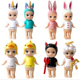 Angels Figures Australia - Cute Kewpie Doll Valentine's Day Limited Edition Sonny Angel Animal Action Figure Toys Fox Dog Mouse Original Limited 8-10 CM