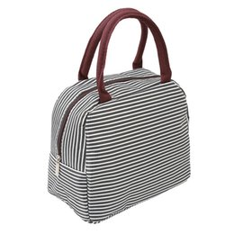 insulated lunch bags women 2019 - New Striped Lunch Bags Women Portable Functional Oxford Cloth Stripe Insulated Thermal Picnic Kids Cooler Lunch Bag Tote