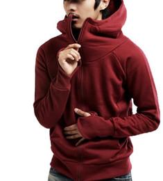 Korean turtlenecK zipper online shopping - Men s Autumn Turtleneck with Gloves Sweatershirts Solid Color Korean Version Cardigan Coat Fashion Casual Men Clothing