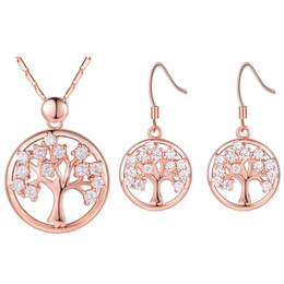 $enCountryForm.capitalKeyWord Australia - Christmas Tree Cute Jewelry Set 925 Silver Geometric Earrings Necklace Jewelry Set For Women Loving Gift T605