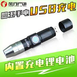 Großhandel Q5. An Jade Light Taschenlampe Spezieller Zweck Usb Charge 365nm Violet Fluorescence Agent Testing Lamp