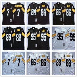 86 shirt online shopping - Vintage Pittsburgh Ben Roethlisberger Jersey Steelers Greg Lloyd Antonio Brown Hines Ward Lynn Swann Football Jerseys Shirts