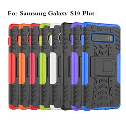 Armor Hybrid Rubber Case Australia - New Hybrid Kickstand Rugged Rubber Armor Hard PC+TPU 2 In 1 Case Stand Case For Samsung Galaxy S10e S10 Plus A6S A8S