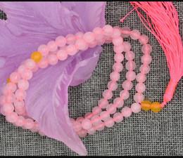 $enCountryForm.capitalKeyWord Australia - necklace Free shipping ++++Natural 6mm stone Buddhist Pink quartz 108 Prayer Beads Mala Bracelet Necklace