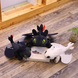Train Dragon Stuff NZ - 12pcs 35cm (13.78inch) How to Train Your Dragon 3 Plush Toy 2019 New movie Toothless Light Fury Soft Dragon Stuffed Doll Christmas Gift