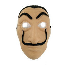 $enCountryForm.capitalKeyWord NZ - Cosplay Party Mask La Casa De Papel Face Mask Salvador Dali Costume Movie Mask Realistic Halloween XMAS Supplies RRA1978