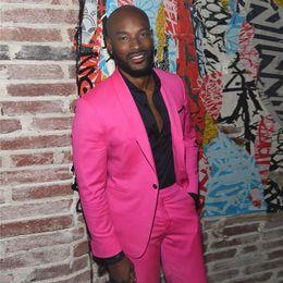 $enCountryForm.capitalKeyWord Australia - Brand New Rose Red Groom Tuxedos Shawl Lapel Slim Fit Groomsmen Wedding Tuxedos Popular Men Formal Blazer Prom Jacket Suit(Jacket+Pants+Tie)