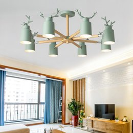 $enCountryForm.capitalKeyWord Australia - Creative pendant light Antler living room decoration hotel modern pendant lamps decorative macarons colors bedside lamp lighting