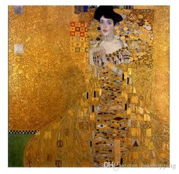 $enCountryForm.capitalKeyWord Australia - Framed Handpainted Classical Abstract Art Oil Painting Gustav Klimt - Female Portrait of Adele Bloch-Bauer I On Canvas.wall Art Home p252