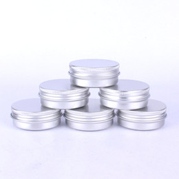 tin boxes wholesale NZ - Tin box Refillable Containers 30ml Aluminum Cosmetic Small Tins Storage Jars Empty Cosmetic Screw Top Sample