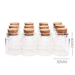 diy decorative bottles Australia - 30*40MM 15ML Empty Glass Bottles Jars with Cork Stoppers for DIY Craft Decorative Container Transparent WB1973