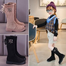 ShoeS little heelS online shopping - Winter Girls Boots Fashion Children Shoes Little Big Kids Girl Warm Snow Boots Princess Flock Mid calf Martin Boot For Girl