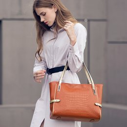 $enCountryForm.capitalKeyWord NZ - 2019 new leather lady bag European and American fashion lady shoulder bag crocodile leather portable simple mummy bag