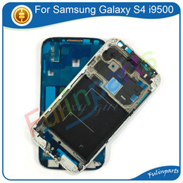 $enCountryForm.capitalKeyWord NZ - Silver For Samsung Galaxy S4 i9500 i9505 i337 Front Frame Housing Case LCD Screen Frame Replacement Parts With Tools