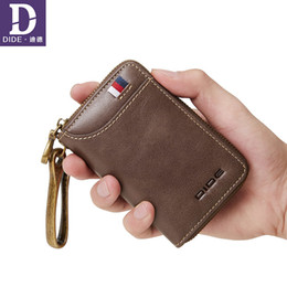cowhide bags purses UK - Dide Genuine Cow Leather Men & Women Car Key Bag Wallet Business Key Case Fashion Housekeeper Card Holder Coin Purse Y19052202