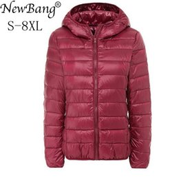 8513fdab2fc NewBang Brand Large Size 7XL 8XL Women s Down Coat Plus Ultra Light Down  Jacket Women Autumn Winter Hooded Feather Warm Jacket