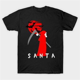 black santa t shirts Australia - Halloween Santa God Of Death Parody Funny Costume Black T-Shirt S-3Xl Wholesale Tee Shirt
