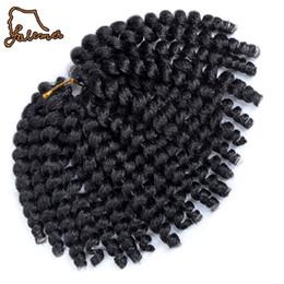 Curl Hair Curling Wand Australia - 80g 10inch 2x Jamaican Bounce Kinky Twist Hair Tresse Crochet Braids Extensions Wand Curl Braiding Hair 20strands pack