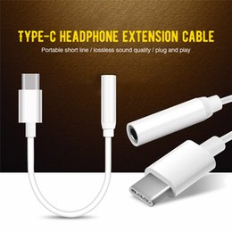 $enCountryForm.capitalKeyWord Australia - Jack Headphone Covertor Type-C To 3.5mm Earphone Cable Adapter Black & White Audio Conversion Headpset Plug Adapter for Type-C Smartphone