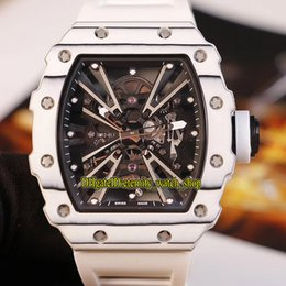 $enCountryForm.capitalKeyWord Australia - Top Version RM 12-01 NTPT White Best Carbon Fiber Case Skeleton Dial RM12-01 Japan Miyota Automatic Mens Watch Rubber Strap Sport Watches 05