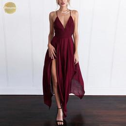 Women beach designer dresses online shopping - Sexy Long Dress Women Elegant Sleeveless Sling Vestido V Neck Evening Summer Party Maxi Dress Boho Beach Dress Designer Clothes