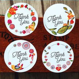$enCountryForm.capitalKeyWord Australia - 1200pcs Thank you flower gift sealling label Adhesive Baking Seal Sticker students' Stickers For Party Favor Gift Bag Candy Box