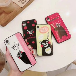 Plastic bears online shopping - One Piece Luxury phone case For iPhone6S P X XS XR fashion cute cartoon bear with glass Designer phone case back cover