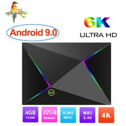 Android Iptv Player Australia - Android 9.0 TV Box Allwinner H6 Quad Core 4GB Ram 32G Rom M9S Z8 TV boxes support WiFi 2.4G 1080p 6K Smart television media player IPTV Box