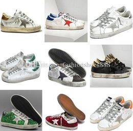 Sneakers GOD GDB vecchio stile di alta qualità in vera pelle Villous Dermis Scarpe casual da uomo e da donna Superstar Trainer 36-45 in Offerta