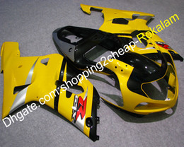 gsxr k1 plastics UK - Fairing GSX-R600 GSXR750 Black Yellow Cowlings Fit For Suzuki GSXR 600 750 2001 2002 2003 K1 Motorcycle Aftermarket Kit (Injection molding)