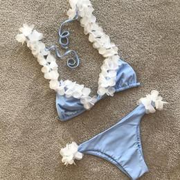 White Floral Push Up Bikini 2019 sexy Bathing Suit Swimwear Women Swimsuit  micro Bikinis mujer Biquini Swimming Suit for women ef32e4745
