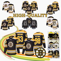 d7266999b HOT Boston Bruins Hockey Jersey 33 Zdeno Chara 63 Brad Marchand 37 Patrice  Bergeron 88 David Pastrnak 4 Bobby Orr JerseyS