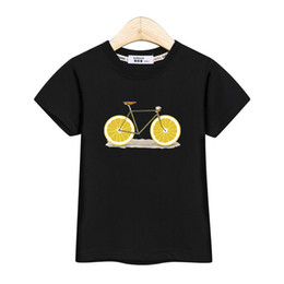 $enCountryForm.capitalKeyWord Australia - Fashion America Kids Tops Short Sleeve Boy Shirt Lemon Bike Design Baby Girl T-shirt Usa Summer Cotton Tees Kid Print Tshirt J190611