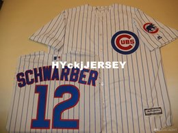 $enCountryForm.capitalKeyWord Australia - Cheap custom Chicago #12 KYLE SCHWARBER Cool Base Sewn Baseball Jersey W Patch NEW Mens stitched jerseys Big And Tall SIZE XS-6XL For sale