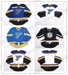 $enCountryForm.capitalKeyWord Australia - Cheap Custom ST. LOUIS BLUES HOME AWAY THIRD JERSEY GOALIE CUT Mens Stitched Personalized hockey Jerseys