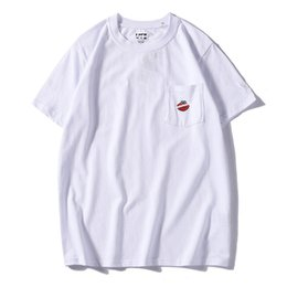 $enCountryForm.capitalKeyWord Australia - 19 Hot summer UK top design cool men's tide female cartoon embroidery T-shirt best couple 100% cotton high quality black and white