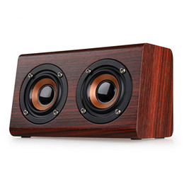 Free calling computer online shopping - W7 Wood Bluetooth Speaker D Surround Dual Loudspeakers Stereo HiFi Subwoofer Wireless Speaker Hand free Call TF Card
