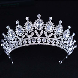$enCountryForm.capitalKeyWord UK - 2019 New Baroque Crown Luxury Rhinestone Crystal Beaded Headband Tiara Bride Wedding Korean Hair Ornaments for Women
