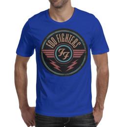 $enCountryForm.capitalKeyWord NZ - Foo Fighters Logo Sticker Liquid Printed Mens T-Shirts Comfort Round Neck Short Sleeve Tshirt 7 Colors