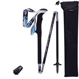 Mountain woMen online shopping - Outdoor Off Road Trekking Pole Carbon Fiber Alpenstock Non Slip Women And Men Convenient Black Practical Flexible ad C1