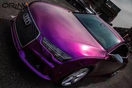 $enCountryForm.capitalKeyWord Australia - Luxury Ultra Glossy Metal Purple Gloss Metallic Vinyl Film Car Wrap For Car Wrapping Foil With Air Bubble Free 1.52*20M Roll 5x65ft