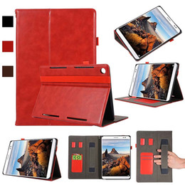 Genuine Leather China Australia - Half Genuine Leather Tablet Cover Case For Huawei M5 10.8 With Shockproof Tablet Case Protective Shell
