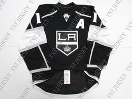 "anze kopitar jersey cheap NZ - Cheap custom Anze Kopitar LOS ANGELES KINGS HOME JERSEY WITH ""A"" stitch add any number any name Mens Hockey Jersey XS-5XL"