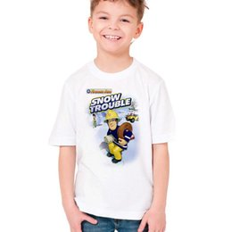 Brand Factory Clothes Australia - Children's T-shirt Summer Small rescue team boys and girls T-shirts European and American children's clothing Factory direct K027-KSTWH