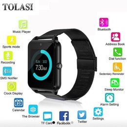 Smart Watch Android Sync Australia - 2018 Hot Women GT08 Smart Watch phone support TF SIM card MP3 0.3MP camera Bluetooth Sync Notifier Clock for apple android OS