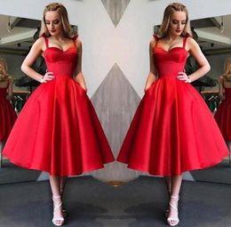 8c990a96083d55a Новый дизайн довольно красные платья возвращения на родину милая шея  спагетти чай длина девушки вечерние платья коктейльное платье BC1945