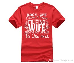 $enCountryForm.capitalKeyWord Australia - tee shirt FILIPINO WIFE PHILIPPINES FLAG SLOGAN JOKE t shirt Movie Hip Tope black for men shirts 100% cotton Short